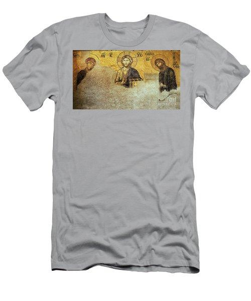 Deesis Mosaic Hagia Sophia-christ Pantocrator-judgement Day Men's T-Shirt (Athletic Fit)