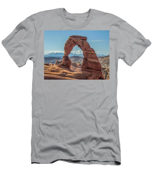 Delicate Arch In Early Morning Men's T-Shirt (Athletic Fit)
