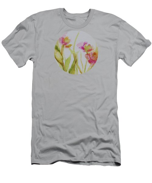 Delicate Blossoms Men's T-Shirt (Slim Fit) by Mary Wolf