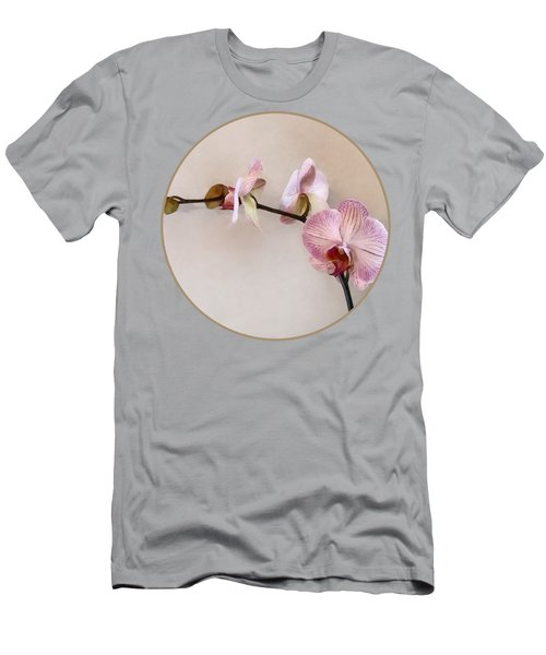 Delicate Pink Phalaenopsis Orchids Men's T-Shirt (Athletic Fit)