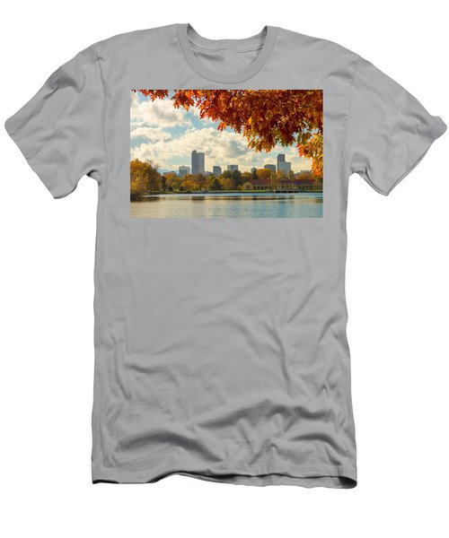 Denver Skyline Fall Foliage View Men's T-Shirt (Athletic Fit)