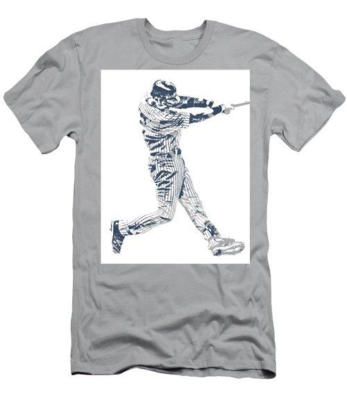 ab7169b00 Derek Jeter New York Yankees Pixel Art 10 Men's T-Shirt (Athletic Fit)