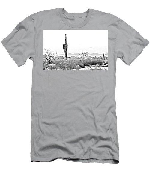 Desert Cactus Men's T-Shirt (Athletic Fit)