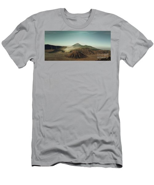 Men's T-Shirt (Slim Fit) featuring the photograph Desert Mountain  by MGL Meiklejohn Graphics Licensing