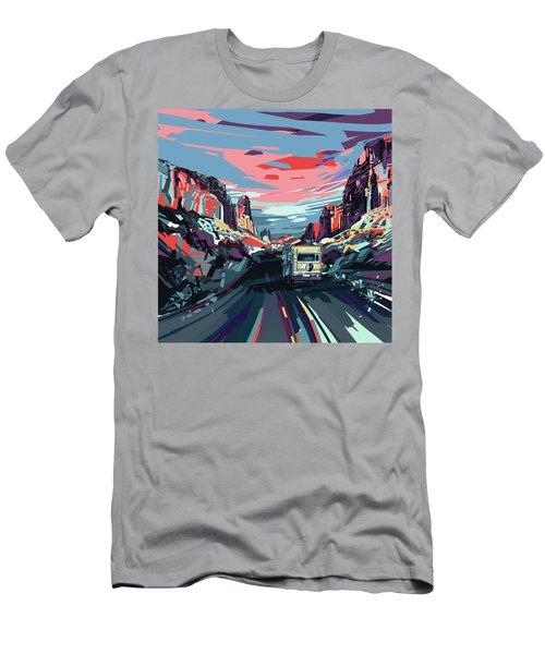 Desert Road Landscape Men's T-Shirt (Athletic Fit)