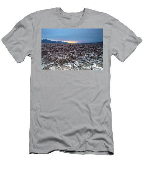 Men's T-Shirt (Slim Fit) featuring the photograph Devil's Golf Course  by Catherine Lau