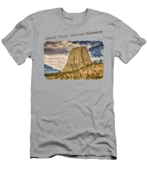 Devils Tower Inspiration 2 Men's T-Shirt (Slim Fit) by John M Bailey