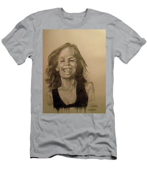 Men's T-Shirt (Slim Fit) featuring the painting Diana by Ray Agius