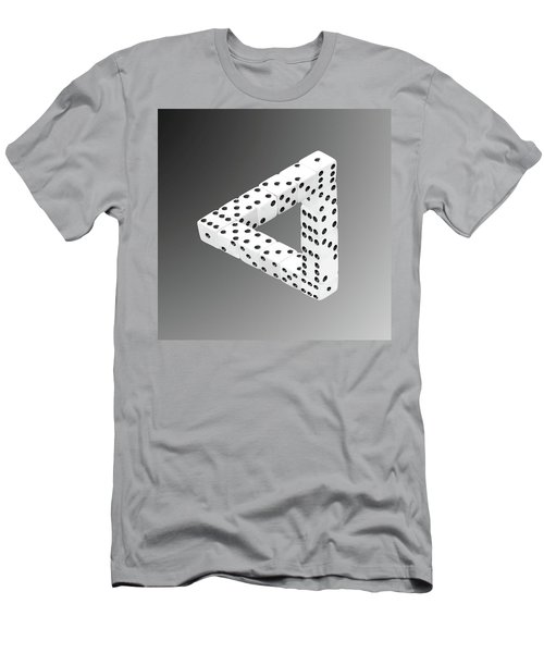Dice Illusion Men's T-Shirt (Athletic Fit)