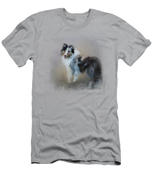 Did You Call Me - Blue Merle Shetland Sheepdog Men's T-Shirt (Athletic Fit)