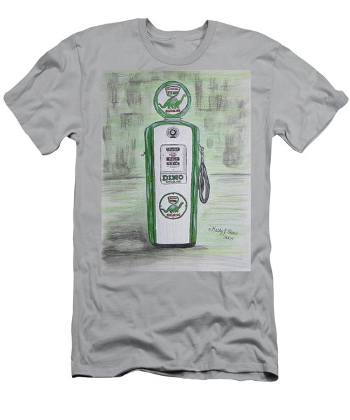 Dino Sinclair Gas Pump Men's T-Shirt (Slim Fit) by Kathy Marrs Chandler