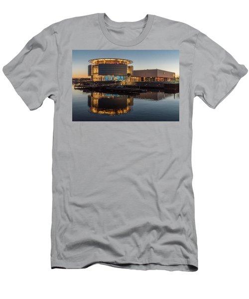 Men's T-Shirt (Slim Fit) featuring the photograph Discovery World by Randy Scherkenbach