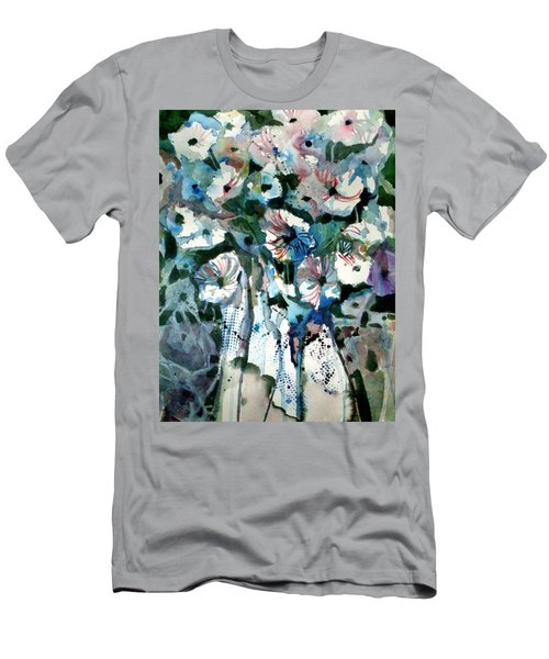 Men's T-Shirt (Slim Fit) featuring the painting Disney Petunias by Mindy Newman