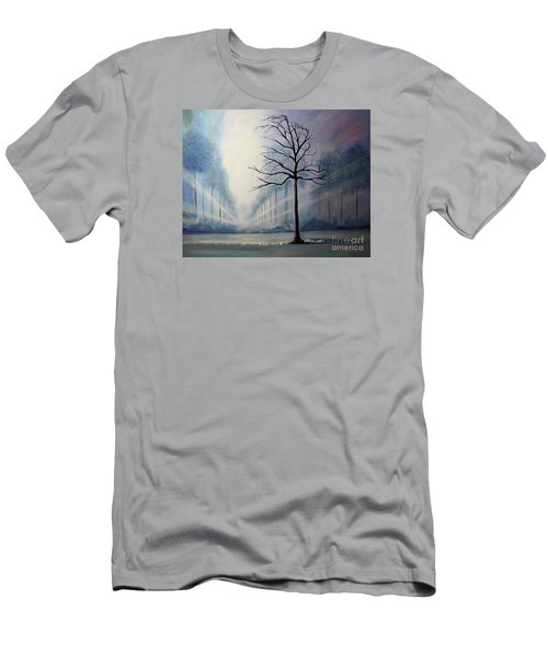 Men's T-Shirt (Slim Fit) featuring the painting Divine Serenity by Stacey Zimmerman