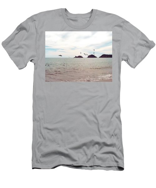 Men's T-Shirt (Athletic Fit) featuring the photograph Diving by Victor K