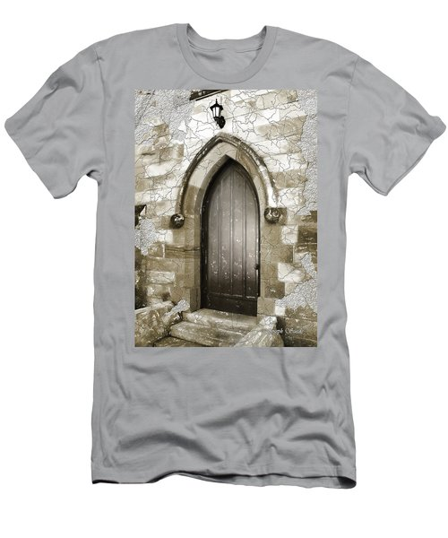Men's T-Shirt (Slim Fit) featuring the photograph Do-00055 Chapels Door In Morpeth Village by Digital Oil