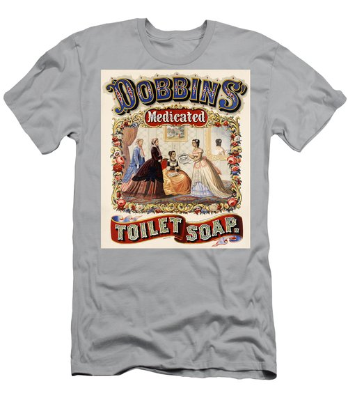Dobbins Medicated Toilet Soap Advertising 1869 Men's T-Shirt (Athletic Fit)