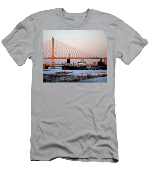 Docked Under The Glass City Skyway  Men's T-Shirt (Athletic Fit)