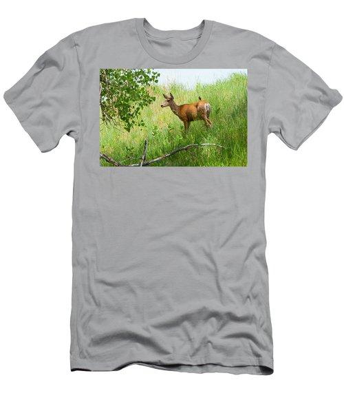 Doe Meets Bird 1 Men's T-Shirt (Athletic Fit)