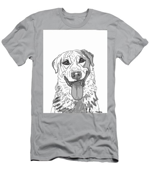 Dog Sketch In Charcoal 2 Men's T-Shirt (Athletic Fit)