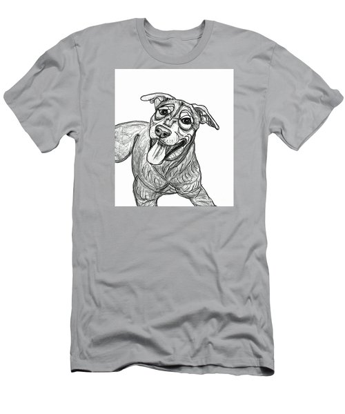 Dog Sketch In Charcoal 5 Men's T-Shirt (Slim Fit) by Ania M Milo