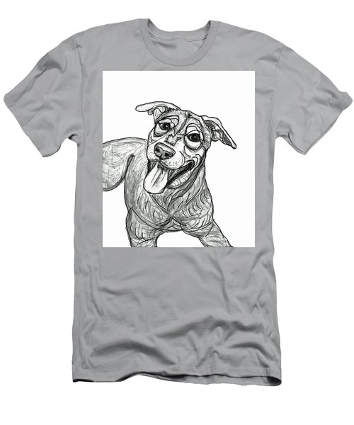 Dog Sketch In Charcoal 5 Men's T-Shirt (Athletic Fit)