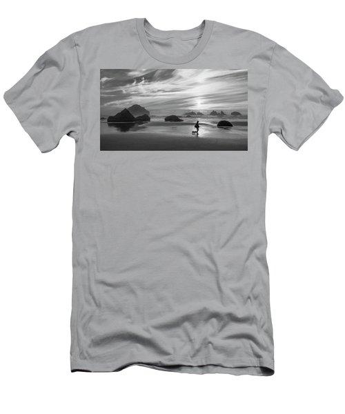 Dog Walker Bw Men's T-Shirt (Athletic Fit)