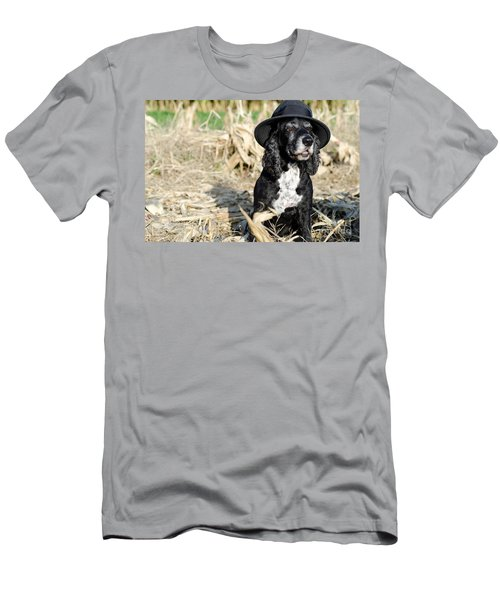 Dog With A Hat Men's T-Shirt (Athletic Fit)