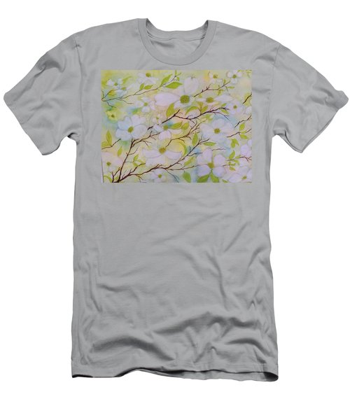 Dogwood Blossoms Men's T-Shirt (Athletic Fit)