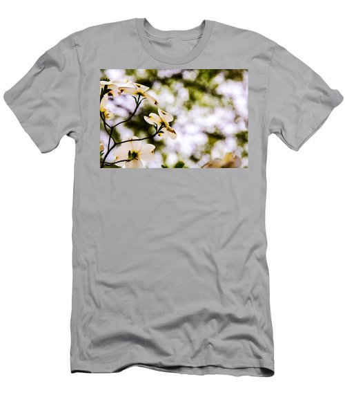 Men's T-Shirt (Slim Fit) featuring the photograph Dogwoods Under The Pines by John Harding