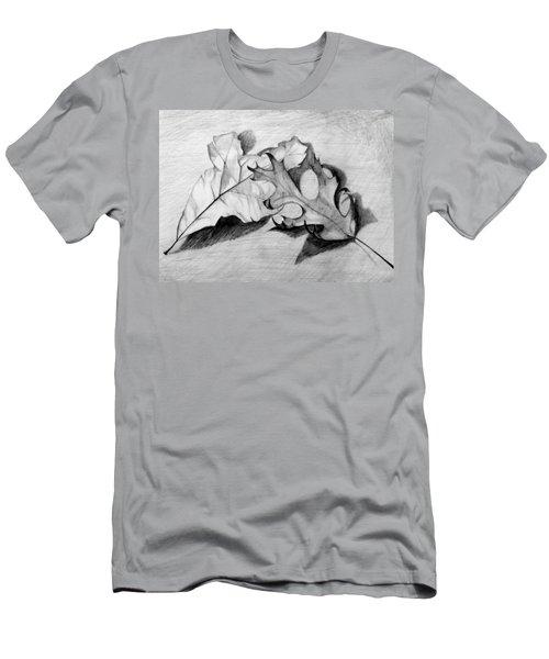 Don't Leaf Me Men's T-Shirt (Slim Fit) by Jean Haynes