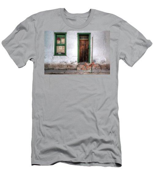 Men's T-Shirt (Slim Fit) featuring the photograph Door 345 by Lynn Geoffroy