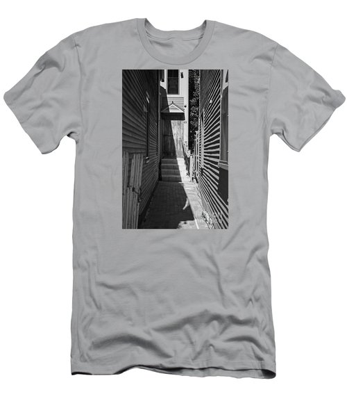 Door In An Alley Men's T-Shirt (Slim Fit) by Kevin Fortier