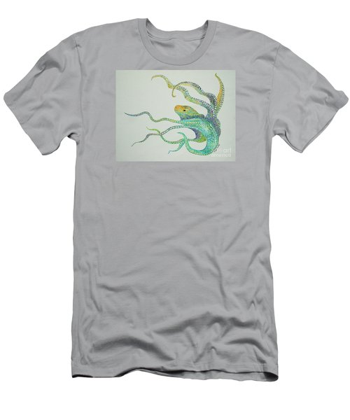 Dot Octopus Men's T-Shirt (Slim Fit) by Tamyra Crossley