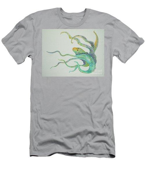 Dot Octopus Men's T-Shirt (Athletic Fit)