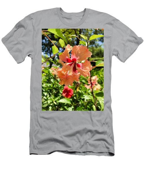 Men's T-Shirt (Athletic Fit) featuring the photograph Double Headed Hibiscus by Brian Eberly