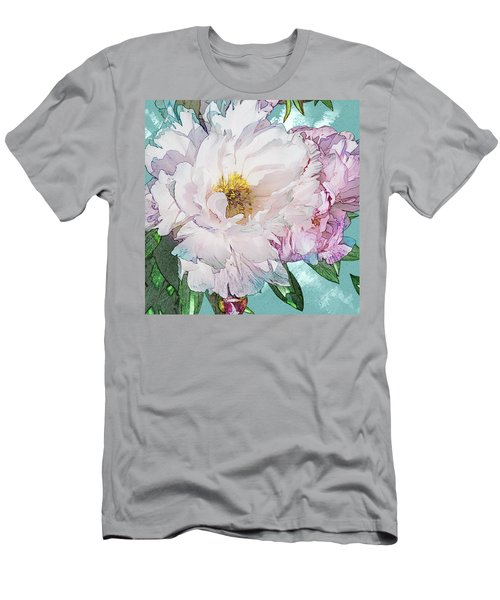 Double Peony Men's T-Shirt (Athletic Fit)