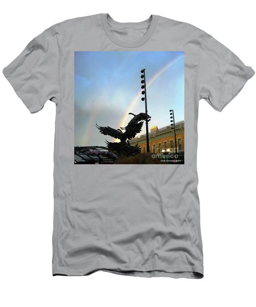 Double Rainbow Over Old Town Square Men's T-Shirt (Athletic Fit)