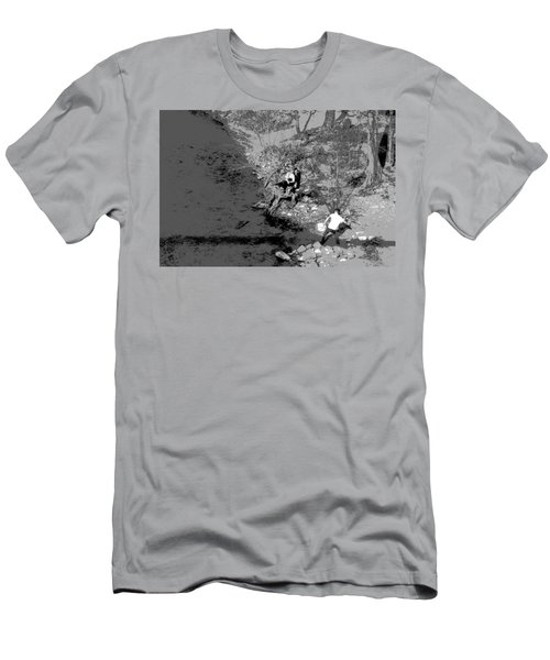 Men's T-Shirt (Athletic Fit) featuring the photograph Down By The Old Mill Stream by W And F Kreations