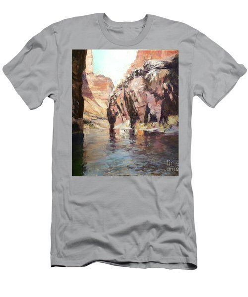 Down Stream On The Mighty Colorado River Men's T-Shirt (Athletic Fit)