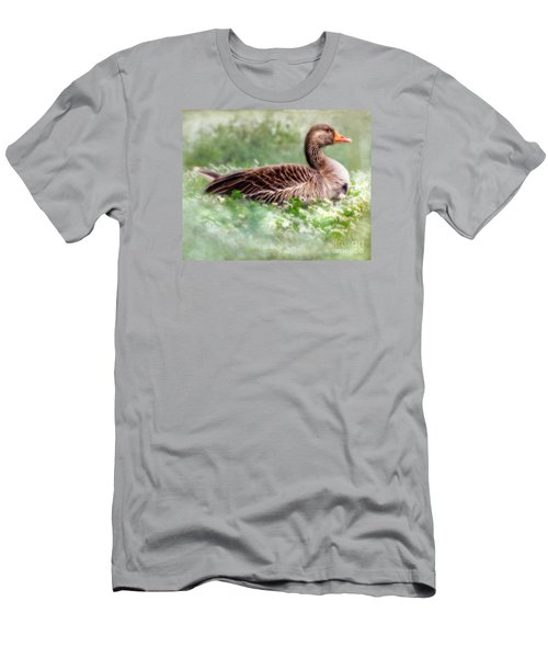 Men's T-Shirt (Slim Fit) featuring the photograph Down With The Daisies  by Linsey Williams