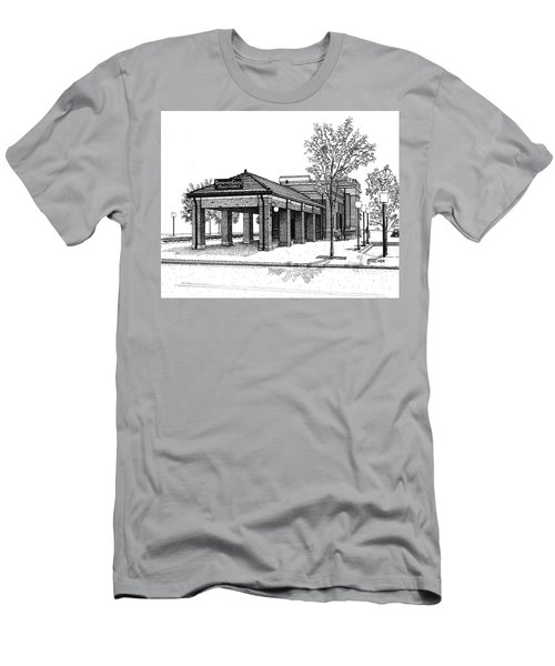 Downers Grove Main Street Train Station Men's T-Shirt (Athletic Fit)