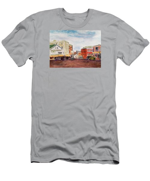 Downtown Amesbury Ma Circa 1920 Men's T-Shirt (Athletic Fit)