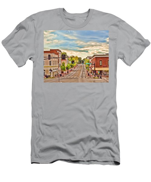 Downtown Blacksburg Men's T-Shirt (Slim Fit) by Kerri Farley