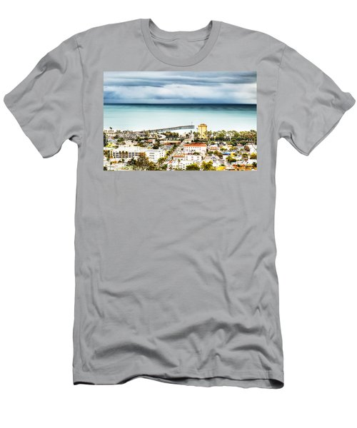 Downtown Ventura And Pier Men's T-Shirt (Slim Fit) by Joe  Palermo