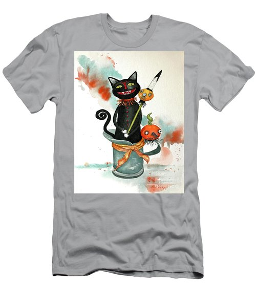 Dracula Vintage Cat Men's T-Shirt (Athletic Fit)