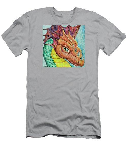 Dragon Portrait Men's T-Shirt (Slim Fit) by Yulia Kazansky