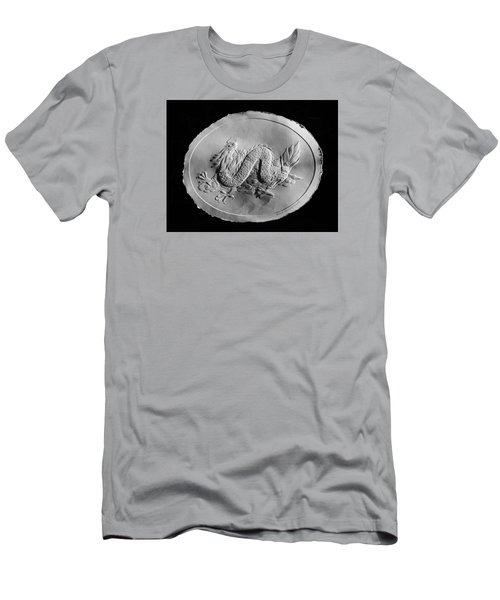Men's T-Shirt (Slim Fit) featuring the relief Dragon by Suhas Tavkar