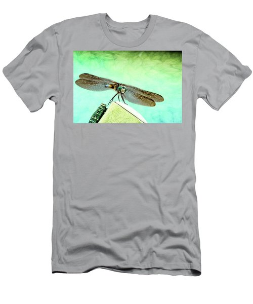 Dragonfly Eating His Bug Men's T-Shirt (Athletic Fit)