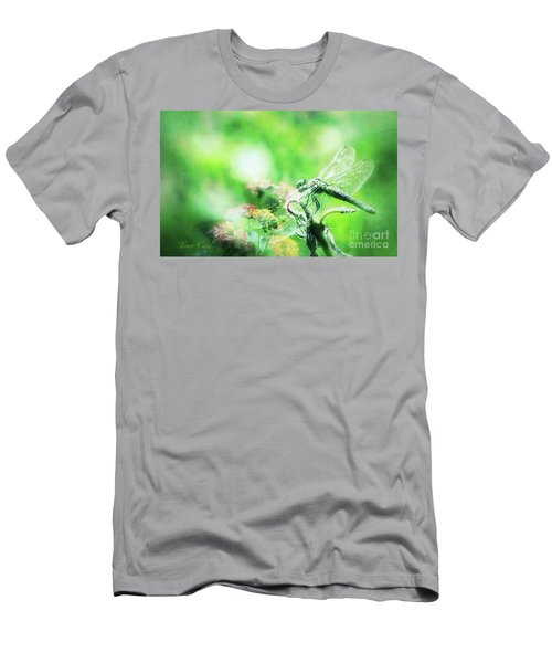 Dragonfly On Lantana-green Men's T-Shirt (Athletic Fit)